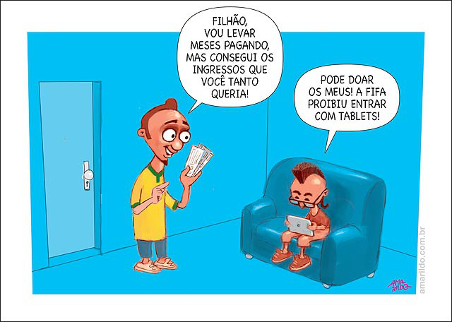 Fonte: Amarildo Charges e Caricaturas