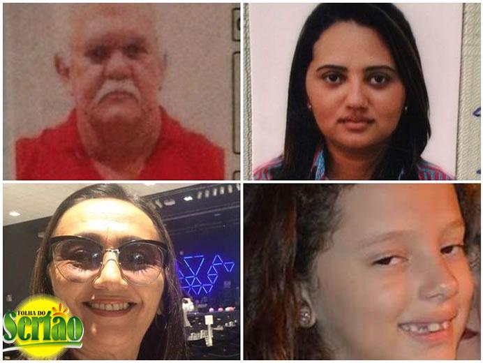 Laércio, Tereza Cristina (esposa), Tereza Lira (Mãe), Filha Menor do casal